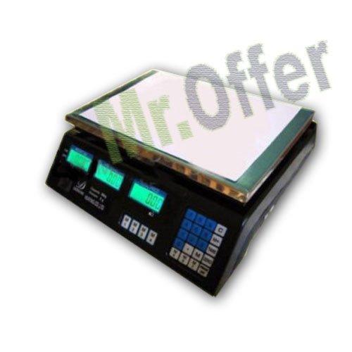 Bilancia elettronica 30 Kg professsionale da banco con display digitale, le bilance sono uno strumento indispensabile in cucina, ufficio e in tutte quelle attività dove la precisione nelle misurazioni è fondamentale.