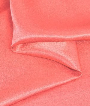 Coral Crepe Back Satin Fabric - by the Yard by Online Fabric Store