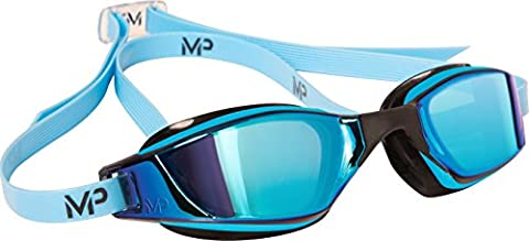 Nouveau. Michael Phelps Xceed de Concurrence de Natation par Aqua Sphere Titanium Blue Mirror - Blue Adult One Size