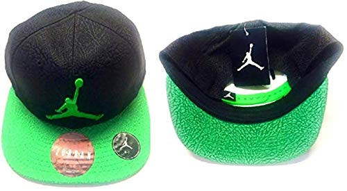 c1af305c4b9 Nike Air Jordan Jumpman Elephant Print Black Green Adjustable Boy s Cap ...