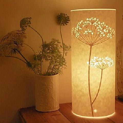 kai lámpara de pie 1 luz patten árbol pantalla de pergamino retro