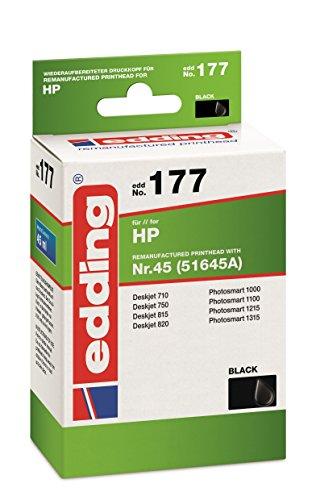 edding 18-177 Druckerpatrone EDD-177, Ersetzt: HP Nummer 45 (51645A), Einzelpatrone, schwarz