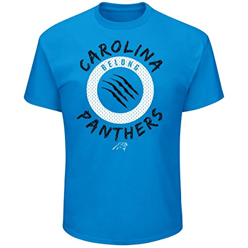 Majestic STARTLING Shirt - Carolina Panthers sky blue - M (Carolina Blau T Shirt)