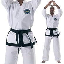 ITF Taekwondo trajes–doboks para 1a 3Dan cinturón negro