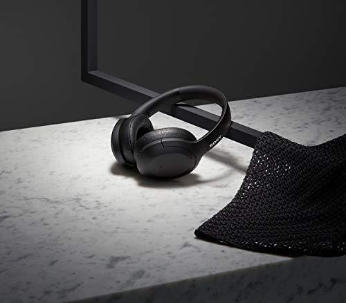 Sony WH-H910N kabellose High-Resolution Kopfhörer (Noise Cancelling, Bluetooth, Ambient Sound Modus, Quick Attention Modus, bis zu 40 Std. Akkulaufzeit) schwarz - 3