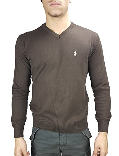 Ralph Lauren V-Neck Pullover / braun / Gr. M (Ralph Lauren Pullover V-neck)
