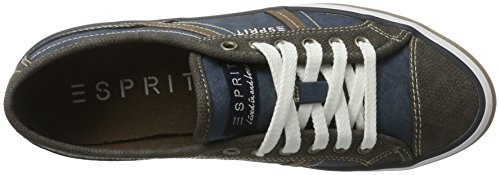 edc by Esprit Megan Lace Up, Sneakers Basses Femme Noir (Black)