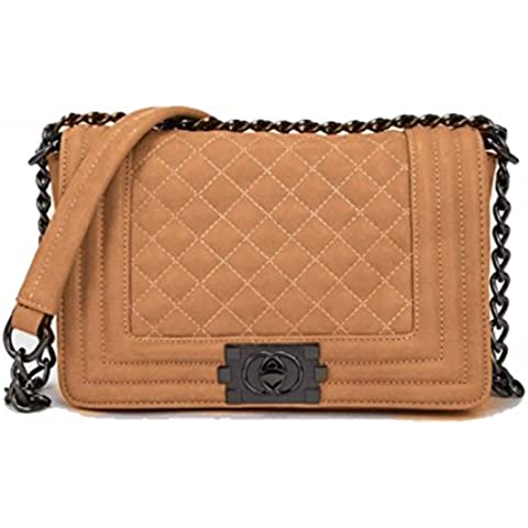LeahWard Donna Quilted Borse a tracolla Borsa ConMetal Flower Decoration