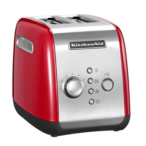 KitchenAid Empire red 2-Slot Manual Control Toaster 5KMT2116BER