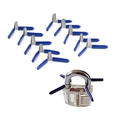 10 Stück Vorhängeschloss-Unterlegscheiben und 1 Vorhängeschloss-Satz, Vorhängeschloss-Dichtung Transparent Lock Process Lock Repair Tool Starkes Vorhängeschloss-Kit -