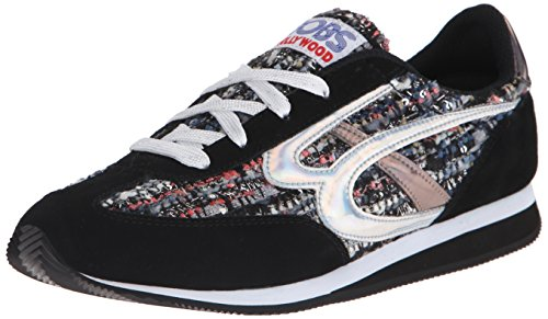 Bobs Von Skechers Sunset Fashion Sneaker Black/Gray