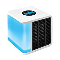 Antarctic Air Cooler Digital LCD Screen 5 Speed Adjustment USB Portable Fan Personal Air Cooler - White