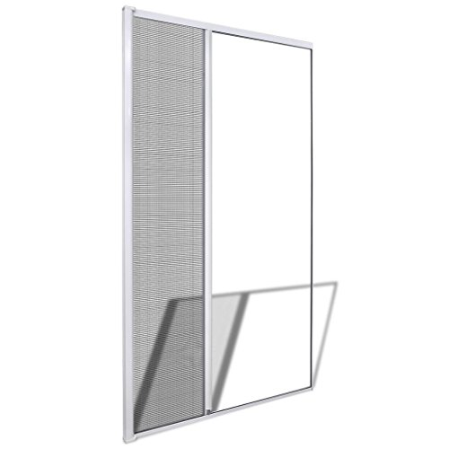 Vidaxl zanzariera scorrevole per porte bianca 120 x 215 cm