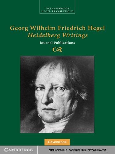 Georg Wilhelm Friedrich Hegel: Heidelberg Writings: Journal Publications (Cambridge Hegel Translations) (English Edition)