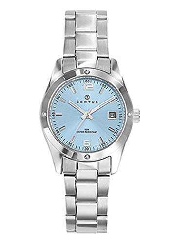 Certus–Reloj Mujer–h641m326–Pulsera Acero–Esfera Azul–Date