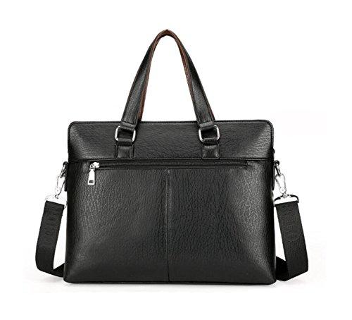Borsa Da Uomo Borsa A Tracolla Messenger Bag Business Pack Tempo Libero Moda Brown2