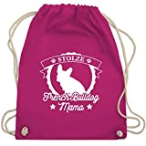 Hunde - Stolze French Bulldog Mama - Unisize - Fuchsia - WM110 - Turnbeutel & Gym Bag
