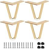 Btowin Haarspeld-tafelpoten, 4 stuks, moderne doe-het-zelf metalen meubelpoten, hairpin-poten met vloerbeschermers en schroev