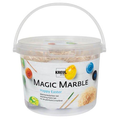 Kreul Magic Marble Marmorierfarben Set, Happy Easter - Tauchmarmorieren Ostern Osterfest
