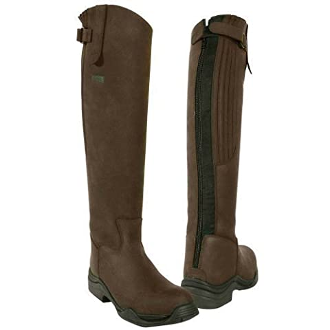 Toggi Calgary Long Leather Riding Boot With Full Zip, Leg Fitting, In Cheeco Brown, Size: 6 (EU 40)