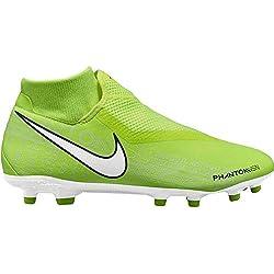 Nike Phantom Vision Academy Dynamic Fit MG, Scarpe da Calcio Unisex-Adulto, Verde (Volt/White/Volt 717), 42 EU