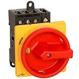 Hauptschalter 20A 4-polig Einbauversion, Frontbefestigung, Lasttrennschalter, Not-Aus-Schalter, JS4P20A-E