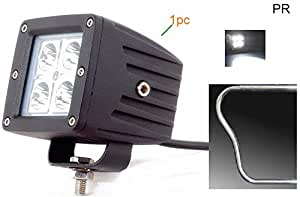 PR Fog Light 4 Led 20w White Light Auxillary Light Bike Motorcycle with and 1 Pc- For Hero Passion Pro Kick Drum Alloy