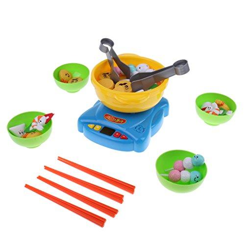 Homyl 39 Stück Kunststoff Feuertopf Essen Set Kinder Spielhaus Rollenspiel Küchenspielzeug
