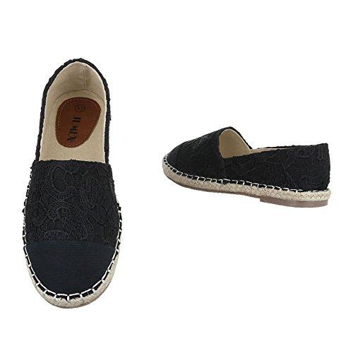 Ital-Design , chaussons dintérieur femme Noir