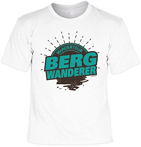 T-Shirt zum Wandern Shirt Wandertour Bergwanderer Bergsteiger Wandertour Pilgern Alpinisten Ski Tour Wander Tour Wanderkleidung Weiß