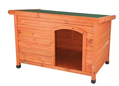 Trixie Natura Flat Roof Dog Kennel, S-M: 85 × 58 × 60 cm by Trixie