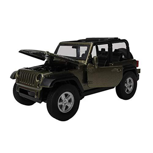 WZLDP 1:32 Jeep Wrangler Cross-Country Cabrio Auto Modell Legierung Auto Modell Kinder Geschenk Spielzeug Diecast-Modelle (Farbe : Schwarz)