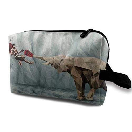 Elephant Boxer Series Makeup Organizer Bag Pouch Purse Cosmetic Tote Bag Carry Case -