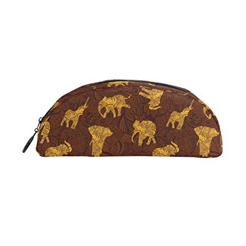 COOSUN Elefantes en estilo indio Estuche Semicircular Papelería Bolso Bolsa Soporte Estuche...