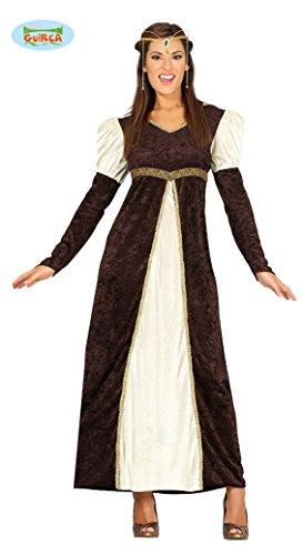 Guirca costume principessa medievale, colore marrone, l (46-48), 88198