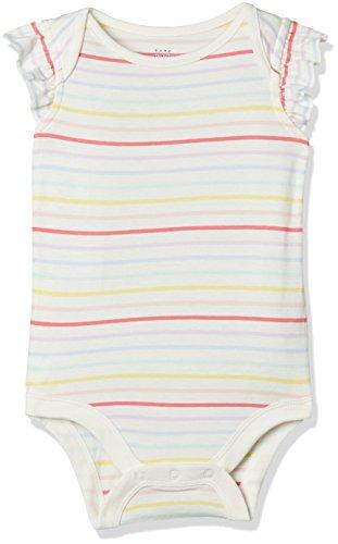 GAP Baby Girls' Bodysuit (23070511101_Multi Stripe_6-12M)