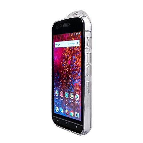Coque pour Cat S61, TPU-Housse Étui de Protection Antichoc pour Smartphone (Coque de Coloris Blanc-Transparent)