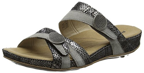 ROMIKA Fidschi 22, Sandales  Bout ouvert femme Grey (Grey Combi)