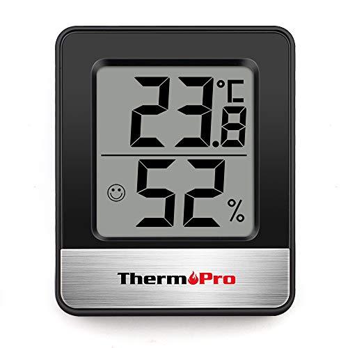ThermoPro TP49 Petit Hygromètre Numérique D'intérieur Thermomètre D'ambiance Moniteur de Température et...