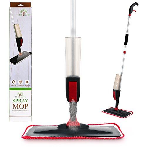 SPRAY MOP mit nachfüllbar 600ml Kapazität Flasche und weich wiederverwendbar Microfaser Pad–leicht, bequem und einfach zu verwenden–Für Hartholz, Holz, Laminat, Wet und Dry Vinyl & Tile Boden Reinigung (Mop Slim)