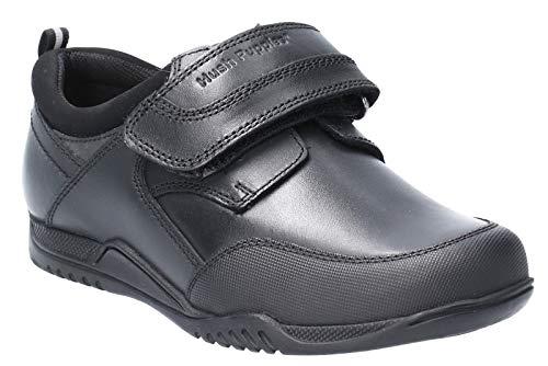 Hush Puppies Noah SNR, Zapatos para Uniformes de Escuela para Niños, Negro, 39 2/3 EU