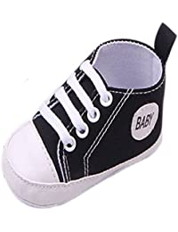 AccessoryStation® Noir nouveau-né bébé garçon fille doux berceau toile  basket chaussures ... f617f0d5bafe