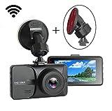 Auto Kamera,3.0 Zoll LCD Full 1080P HD DashCam Auto,WiFi WLAN, DVR Rekorder Video Recorder mit 170° Weitwinkelobjektiv,Bewegungserkennung,G-Sensor,WDR,Parkschutz,Loop-Aufnahme, Nachtsicht Durch WHOLEV