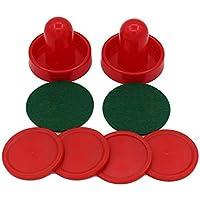 Mini Air Hockey 60/76 / 96mm 2 Pusher Goalies 4 Pucks Set de Fieltro para mesas de Juego