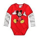 Disney Mickey Babies bebé cuerpo–Rojo Rojo rosso 3M UK