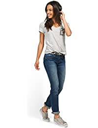 TOM TAILOR Damen Jeans Straight Alexa with Belt