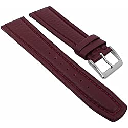 Graf Manufaktur Montana Replacement Band Watch Band Nappa Strap burgundy 26363S, width:20mm