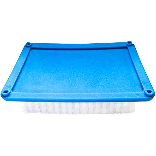 Große Filznadel Matte von Curtzy – Weißes Filz-Unterlagen Set mit Blauer Rückseite – Werkzeug zum Filzen – Zum Filztiere u. Gefilzte Lieblingsstücke Basteln – Auf Tisch, Boden u. Teppich Verwenden