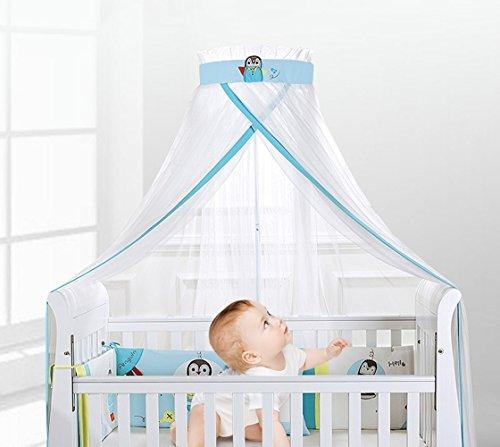 Kinderbaby-Krippen-Moskito-Netz-Bett-Überdachungs-Garn mit runder Spitze Jungen-Mädchen, Boden-Stand-Filetarbeits-Vorhang-Bettwäsche-Hauben-Spiel-Zelt, 5 HÖHENVERSTELLBAR, GROSSE GRÖSSE, NEW- 6.5M × 2.2M