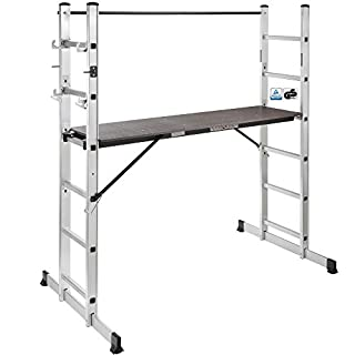 Arebos Working Ladder / 3 in 1 - scaffolding, step ladder or laying ladder